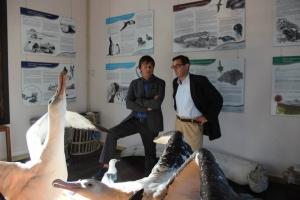 Visite expo R.N. des TAAF - Préfet Pascal Bolot et Nicolas Hulot