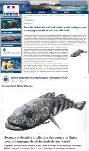Article Pêche légines TAAF  2017