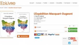 """Edilivre - couverture de """"L'Expédition Macquart-Dugeont"""" de Francis Audebrand"""