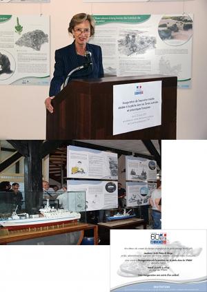 Inauguration expo pêche TAAF - Pref Cécile Pozzo Di Borgo