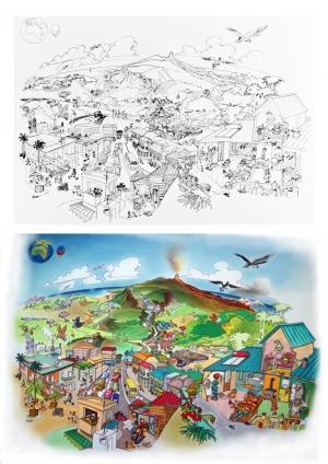 Poster bd pour l'Observatoire Réunionnais de l'Air