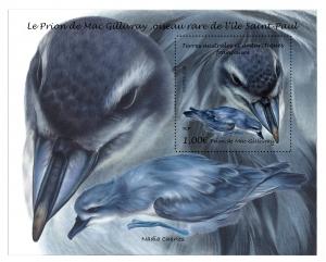 Prion de Mac Gillivray maquette du bloc/timbre Réserve Nat. TAAF