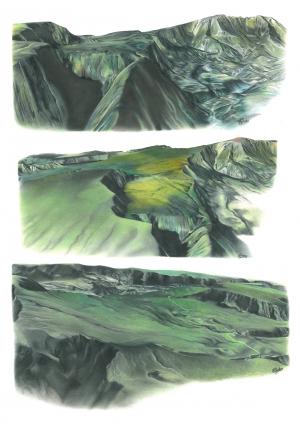 Panoramiques des reliefs de la forêt de Bélouve