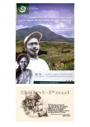 Affiche Charte PNR et carte de voeux St-Paul
