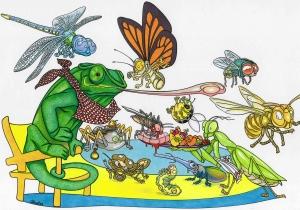 Création de personnages pour l'Insectarium